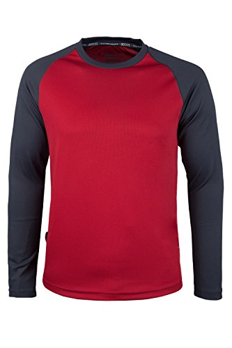 Mountain Warehouse Endurance Mens Long Sleeved Top Red Medium