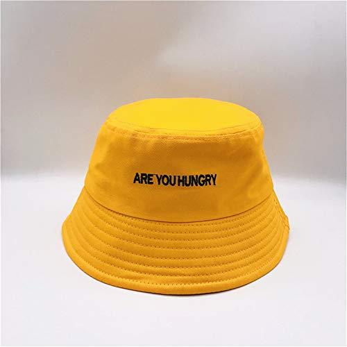 hat-maihef amerikanische englische Stickerei Fischer Hut New Street Dance Trend Hut japanischen Becken Caps - Yellow Code (Matrosen Hüte In Der Masse)