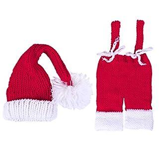 Toyvian Bebé recién Nacido Bebé Disfraz de Navidad Traje de Papá Noel Accesorios de fotografía para bebés de 0 a 1 Mes (Rojo)