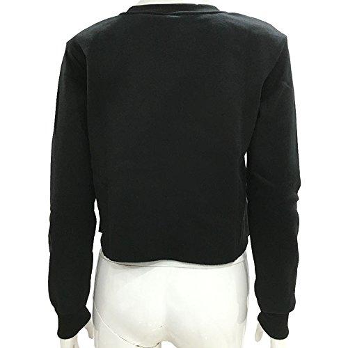 Bling Stars - Sweat-shirt - Femme noir noir S Noir