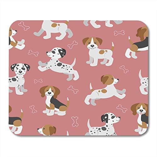 Mauspad Hund lustige Welpen Beagle Dalmatiner Jack Russell Terrier Muster Mousepad für Notebooks, Desktop-Computer Mauspads, Bürobedarf 10 x 12 Zoll