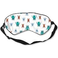 Preisvergleich für Natural Silk Eyes Mask Sleep Funny Little Monster Blindfold Eyeshade with Adjustable for Travel,Nap,Meditation...