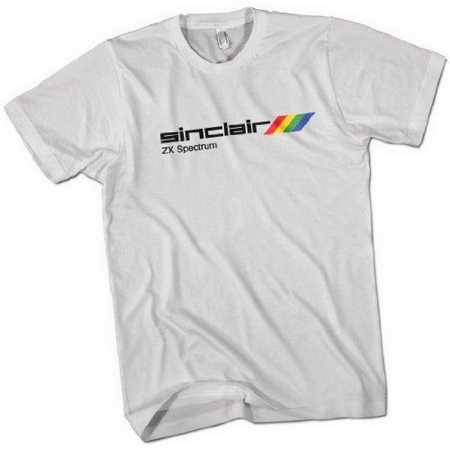 Sinclair ZX Spectrum Mens Premium T-Shirt, White or Black
