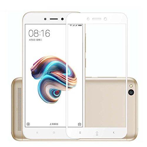 GerTong Xiaomi Redmi 5A - Protector de Pantalla de Cristal Templado para Redmi 5A (no Nota 5A, 5,0 Pulgadas, antiarañazos, Pantalla Táctil de 2.5D, Color Blanco