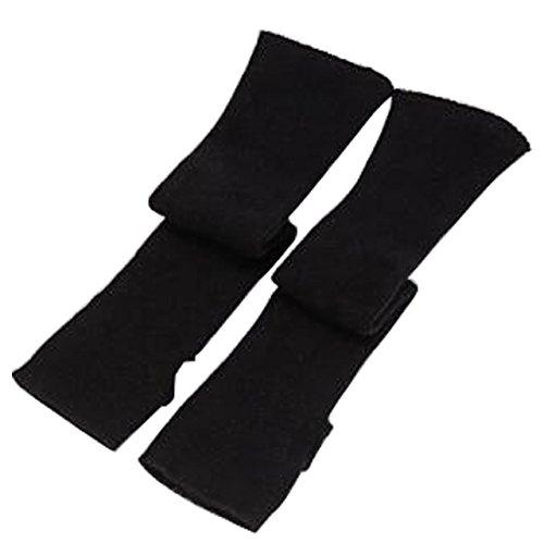 Lange Nylon Handschuhe Schwarz - CHIC DIARY Fingerlose Armstulpen Damen Langarm