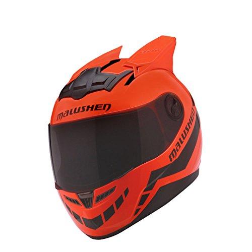 Harleeyr Motorrad Helm Frauen Flip up Motocross Helm Moto Helm Motociclista Neuheit Casque Moto ABS Materia Orange XXL