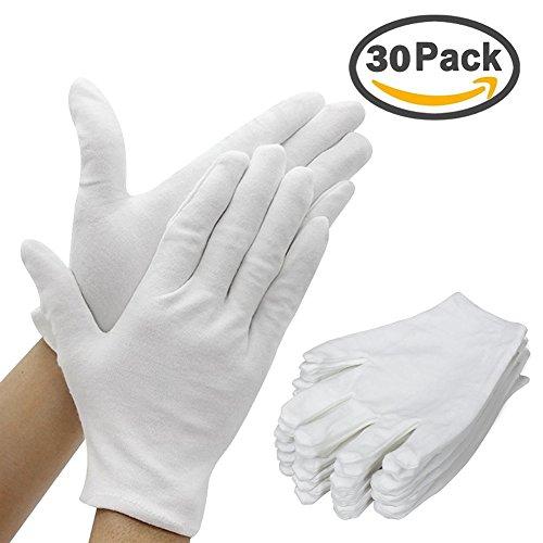 Herren Weiße Baumwolle Handschuhe S-XL Kellner//