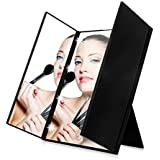 HOPESOOKY 8 LEDs Tri Fold Adjustable LED Lighted Touch Screen Travel Mirror Make-up Compact Pocket Laptop Mirror...
