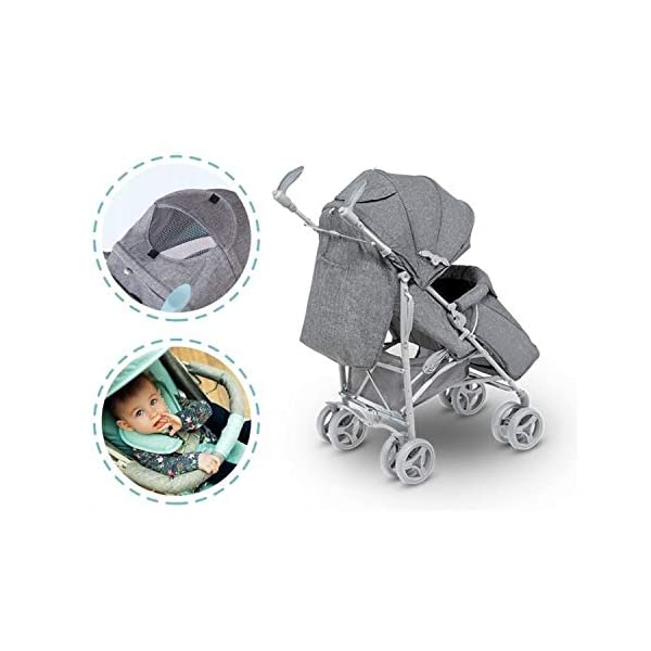 Lionelo Irma Folding Stroller with Backrest Adjustment 6 Inch Wheels (Gray) Lionelo ▶ 4-stage backrest adjustment from seat to reclining position. The child can sleep comfortably and quietly. ▶ The handles can be rotated 360 degrees to improve the well-being of a parent. ▶ Light and easy to fold frame ▶ can be folded up in any car boot or can also be used as a perfect travel companion on the plane 4