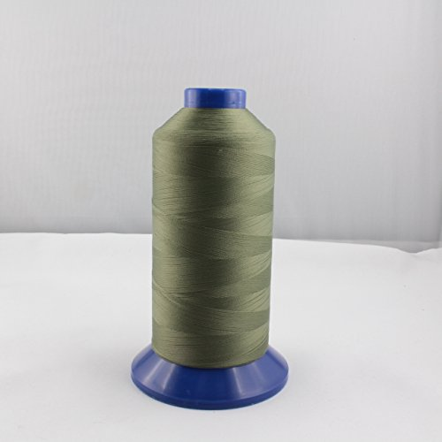 Bauschgarn - Overlockgarn - grün, jägergrün - Stärke: 60 - Nylon - 5000 m (Nylon-faden Overlock)