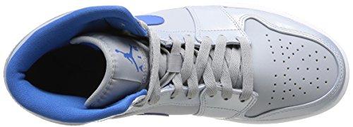 Nike 554724 025 Air Jordan 1 Mid Herren Sportschuhe - Basketball Mehrfarbig (WOLF GREY/SPORT BLUE WHITE)