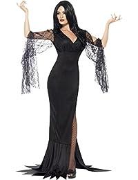 Frauen Halloween Fancy Kleid Morticia Outfit Vampir Hexe Immortal Soul Kostüm