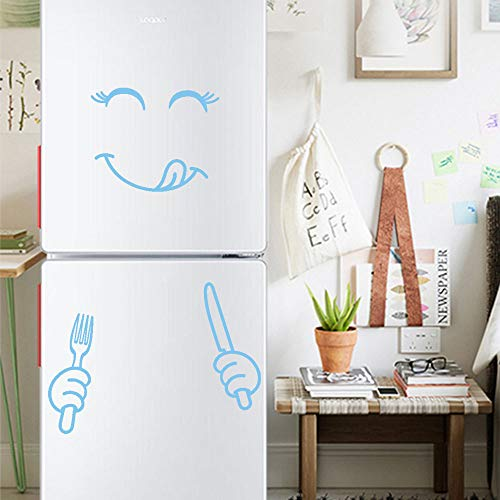 Mitlfuny Black Friay DE Cyber Monday DE,Cute Sticker Fridge Happy Delicious Face Kitchen Fridge Wall Stickers (Diy Halloween Kostüm Ideen Für Männer)