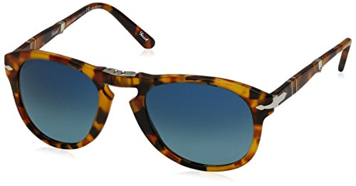 Persol Herren 0Po0714 1052S3 52 Sonnenbrille, Braun (Madreperla/Bluedarkbluepolar),
