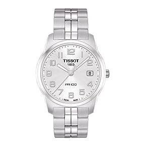 Tissot T0494101103201 - Reloj analógico de caballero de cuarzo con correa de acero inoxidable plateada de Tissot