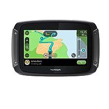 TomTom Rider 500 Navigatore Satellitare per Moto - Mappe Europa 49 Paesi, Percorsi Tortuosi e Collinari Dedicati alle Moto, Aggiornamenti tramite Wi-Fi, Siri e Google Now, Traffico e Autovelox