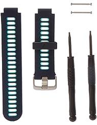 Garmin Watchband Forerunner 735XT Midnight Blue/Frost Blue, 010-11251-0P (Midnight Blue/Frost Blue)