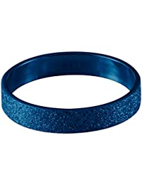 Quiges Stainless Steel Blue Sand Stardust Sparkle Glitter Inner Ring 4mm Height for Stackable Ring Collection