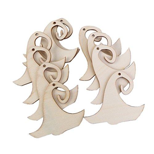 Pixnor 100Wizard Hat Muster Holz Verzierungen mit Hanf Seile für Halloween Dekoration DIY Basteln (Halloween-dekoration Holz Diy Aus)
