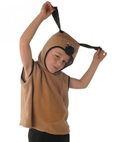 Cheadle Royal Brown Dog Tabard Costume (3-5 Years) by (Spiderman Kostüme Videos)