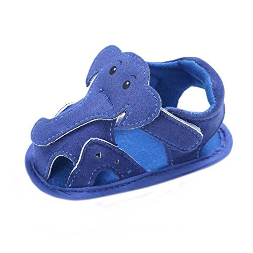 Igemy Baby Säugling Kinder Mädchen Jungen Weiche Sohle Krippe Kleinkind Neugeborenes Sandalen Schuhe Blue
