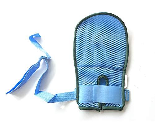 ZJDU Medizinische Zurückhaltung Handschuhe Erwachsene Kinder Ältere Patienten Anti-Scratch Anti-Pulling Tube Spritzen Medizinische Lüftung Sicherheit Universal,S