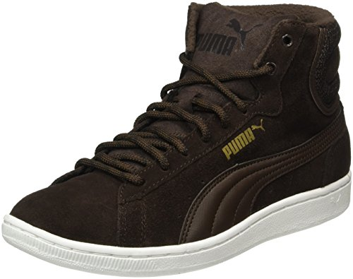 Puma Vikky Mid Twill Sfoam, Baskets Basses Femme Brun (Braun Coffee-Braun Coffee 02)