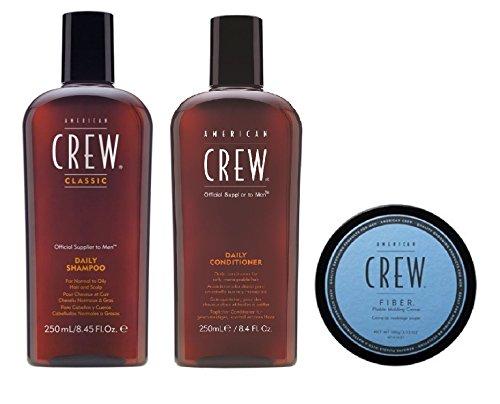 American Crew Daily shampoo 250ml, conditioner 250ml e fibra 85g