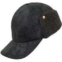 EveryHead Fiebig Basecap para Hombre Capacete Béisbol Gorra Gorro De  Pantalla Sombrero Invierno Apariencia Cuero Salvaje 40e12167228