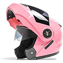 a0af05b500b04 Cascos Casco Half Facelift Helmet Double Lens Casco de moto Hombres y  Mujeres Four