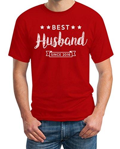 Best Husband Since mit WUNSCHJAHR - Geschenk für Ehemann T-Shirt Rot