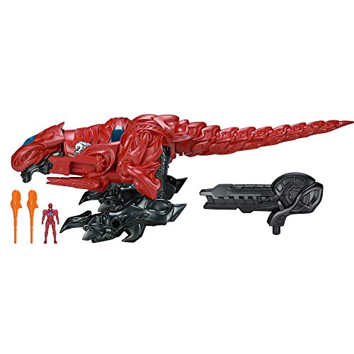 Image of Power Rangers 42555 Movie Deluxe T-Rex Zord with Red Ranger
