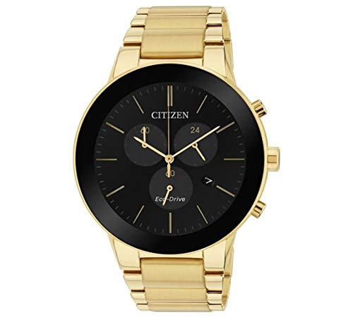 Citizen Men's Axiom Eco-Drive Chronograph Gold Tone WatcH