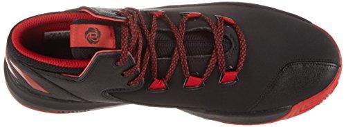 adidas D Rose Menace 2, Scarpe da Ginnastica Uomo Nero (Negbas/Escarl/Negbas)