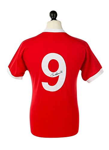 Bobby-Charlton-Signed-Shirt-Manchester-United-Autograph-1958-Jersey-Memorabilia