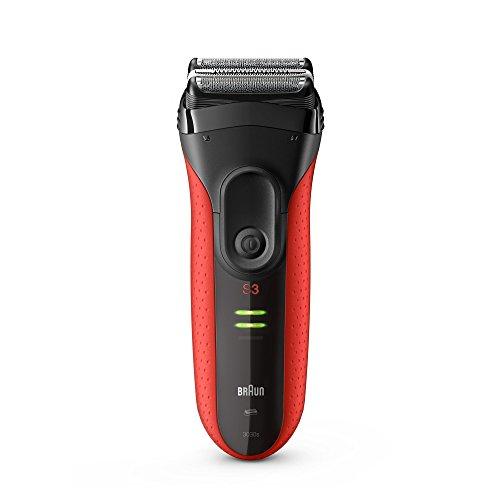 Braun Series 3 ProSkin Elektrorasierer Herren 3030s, schwarz/rot