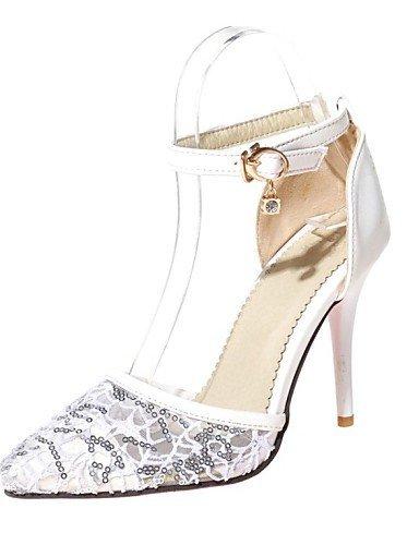 ShangYi Damenschuhe-High Heels-Hochzeit / Kleid / Party & Festivität-Kunstleder-Stöckelabsatz-Absätze / Spitzschuh-Schwarz / Rot / Weiß Black
