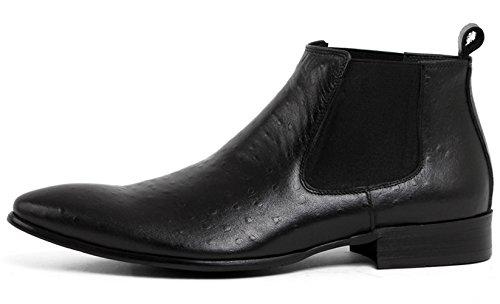 SERDAOUMANI boots homme cuir supérieur tête poidu Type comercial EUROPA STYLE Noir