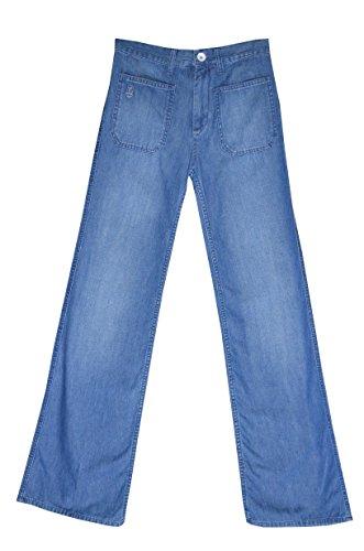 ONE STEP - Jean ' Le CHARLOTTE ' - Bleu Sone - évasé - FEMME - US W25 W26 W27 W28 W33 NEUF (W25 / Fr 34-36, Bleu)