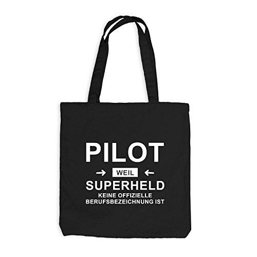 Borsa Di Juta - Pilota Supereroe - Eroe Professione Nero