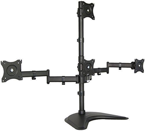 Quad LCD Monitor Schreibtisch Ständer Halterung Freistehende 3+ 1= 4/hält Vier Bildschirme bis 63,5cm (stand-v004z) Quad Lcd Monitor Stand