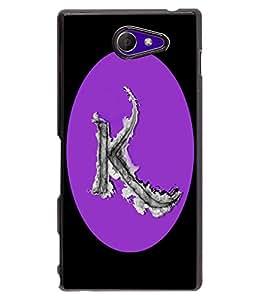 Fuson 2D Printed Alphabet K Designer back case cover for Sony Xperia M2 - D4180