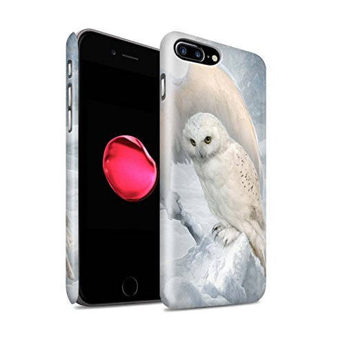 Offiziell Elena Dudina Hülle / Matte Snap-On Case für Apple iPhone 8 Plus / Pack 18pcs Muster / Die Vögel Kollektion Winter-Eulen/Arktis