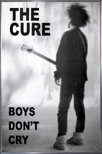 The Cure Poster (93x62 cm) gerahmt in: Rahmen anthrazit metallic