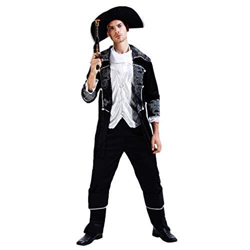 (Jitong Königin Verkleidung Cosplay Kostüm für Halloween Unisex Kreative Piratenkostüm Partner Kleidung (Pirat |Herren, Eine Größe))