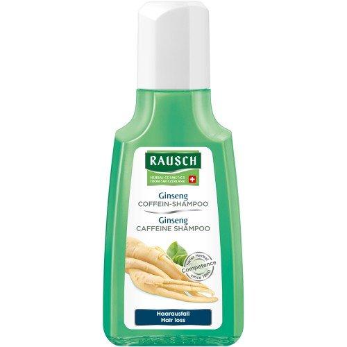 Rausch Ginseng Coffein-Shampoo (mit hochwertigen Extrakten aus Ginseng, Guarana, Tigergras sowie anregendem Coffein - Vegan), 4er Pack (4 x 40 ml)