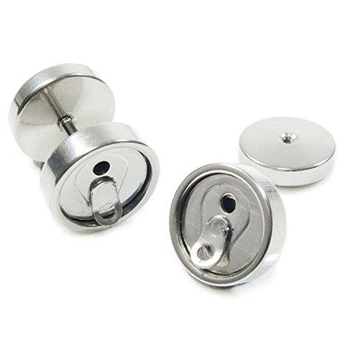 cameleon-shop-acero-inoxidable-pendientes-fake-plug-dilator-soda-puede-plata