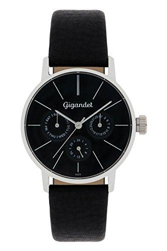 Gigandet G38-002 - Reloj para mujeres, correa de cuero color negro