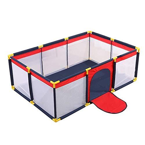 Großer Kinderlaufstall - Abwaschbares Großes Zentrum For Kindersicherheitsspiele - Spielen Im Innen- Und Außenbereich (190 X 128 X 65 Cm) -