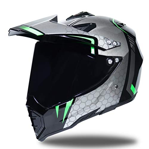 Shorkproof Off Road Casco integrale moto Caschi per adulti moto con visiera antivento anti-caduta di sicurezza tappi di motocross 23 colo